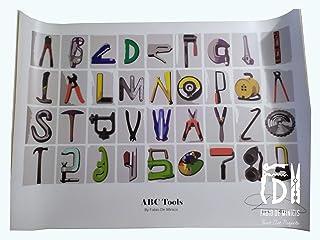 "Alfabeto ""ABC Tools"" obra de Fabio De Minicis Póster tamaño 70 x 100 cm sin enmarcar"