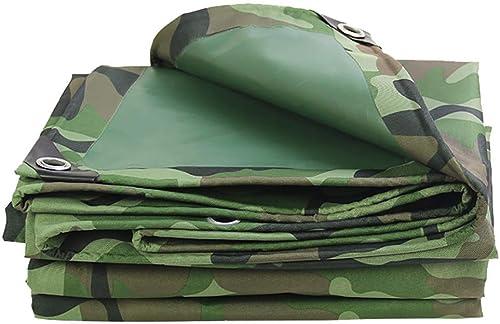 CFHJN Home bache imperméable bache imperméable à l'eau de Pluie épaissie avec des Trous Camping en Plein air Camouflage Tente en Tissu Oxford (Couleur   A, Taille   3×6m)