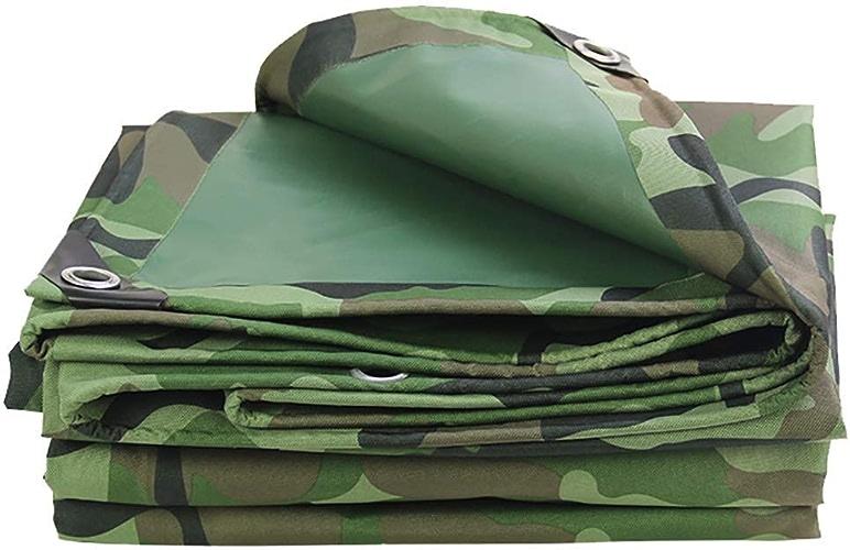 CFHJN Home bache imperméable bache imperméable à l'eau de Pluie épaissie avec des Trous Camping en Plein air Camouflage Tente en Tissu Oxford (Couleur   A, Taille   6×8m)