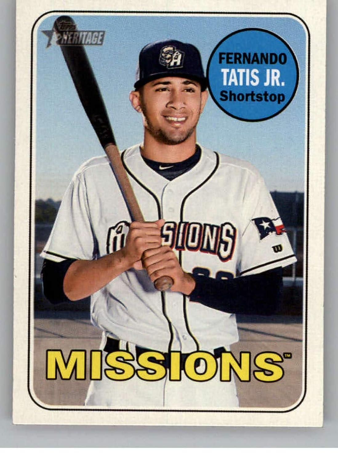 2018 Topps Heritage Minor League Baseball #100 Fernando Tatis Jr. San Antonio Missions Official MILB Trading Card