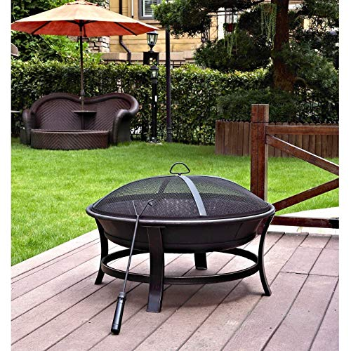 Best Bargain MISC 30-inch Fire Pit Black Steel