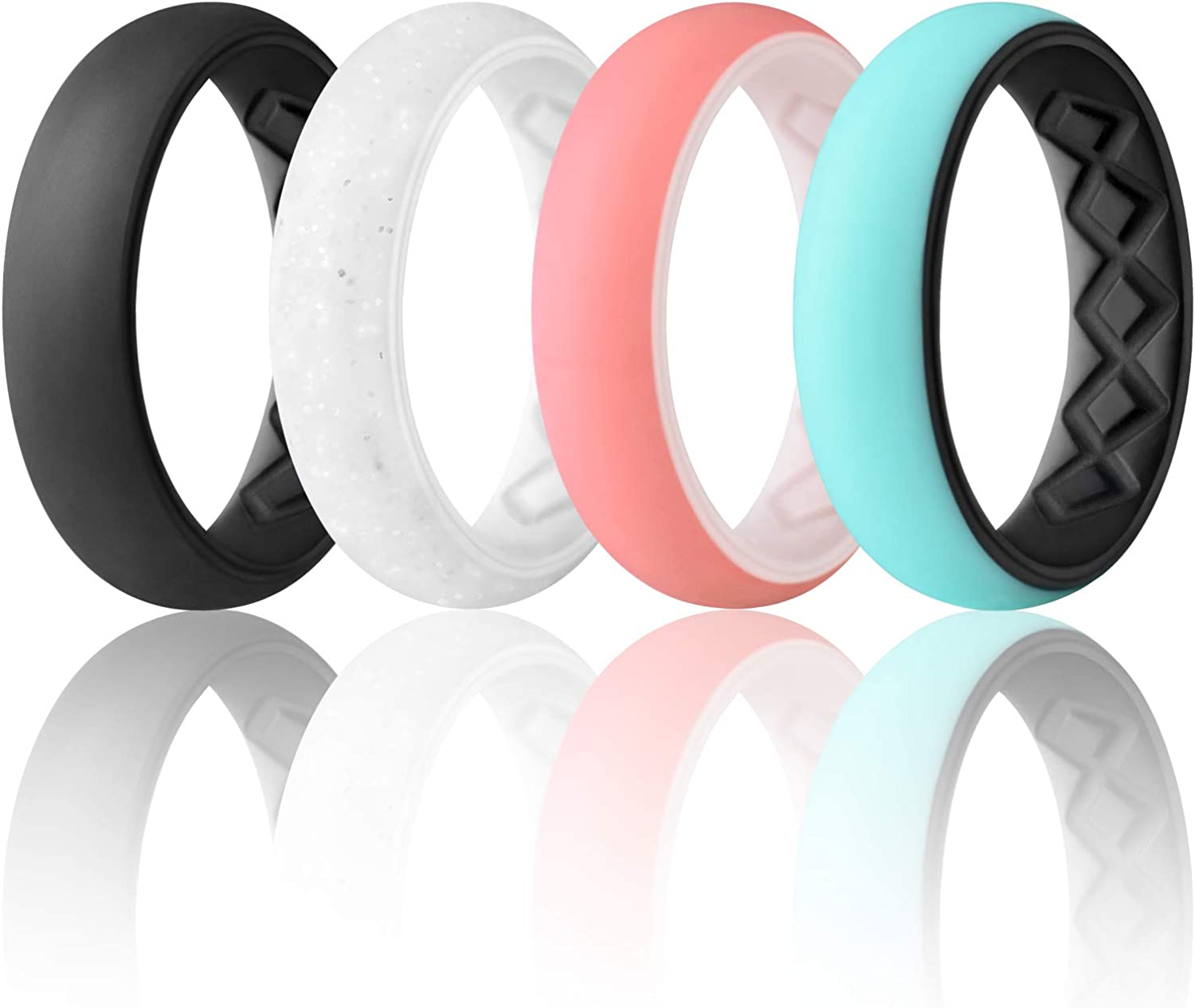Great interest Egnaro Silicone 67% OFF of fixed price Wedding Ring for Ergonomic Arc Brea Women Inner