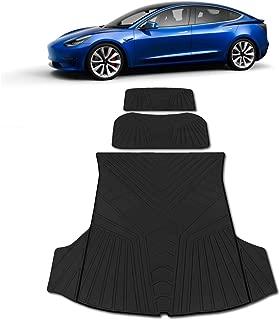 SEG Direct Front Trunk/Mat/Customized/for Tesla/Model/3 Dustproof Odorless Scratch-Resistant Washable Sturdy Heavy-Duty All-Weather Flexibility Black
