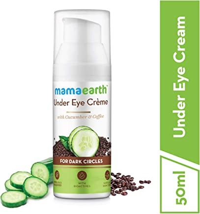 Mamaearth Natural Under Eye Cream for Dark Circles & Wrinkles with Coffee & Cucumber, 50 ml