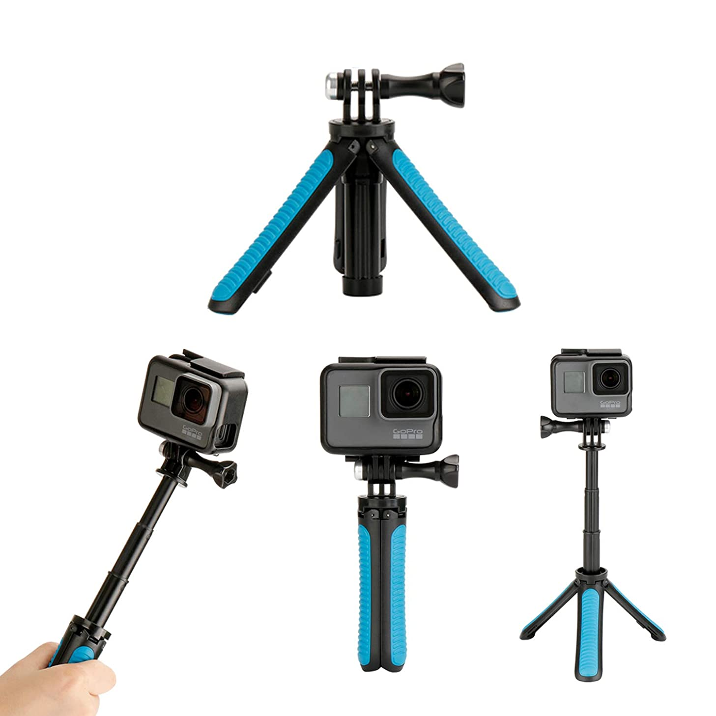 Extension Pole Tripod Compatible with GoPro Hero 7, 6, 5,4, 3, 2, 1 Action Camera Tripod for Phone Selfie Stick Video 1pc