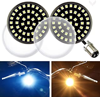 Eagle Lights Generation II Midnight Edition Front 2 Inch LED Turn Signals with White Running Lights (Add Clear Lenses) for Harley Davidson