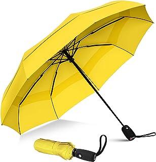 Repel Umbrella Windproof Travel Umbrella with Teflon Coating (Yellow)