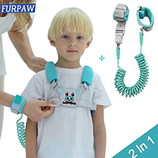 Child & Kids Backpack Leash for Toddlers   Baby & Kid Leash Harness - 2in1 Backpack Leash & Wrist Link Mode - Blue