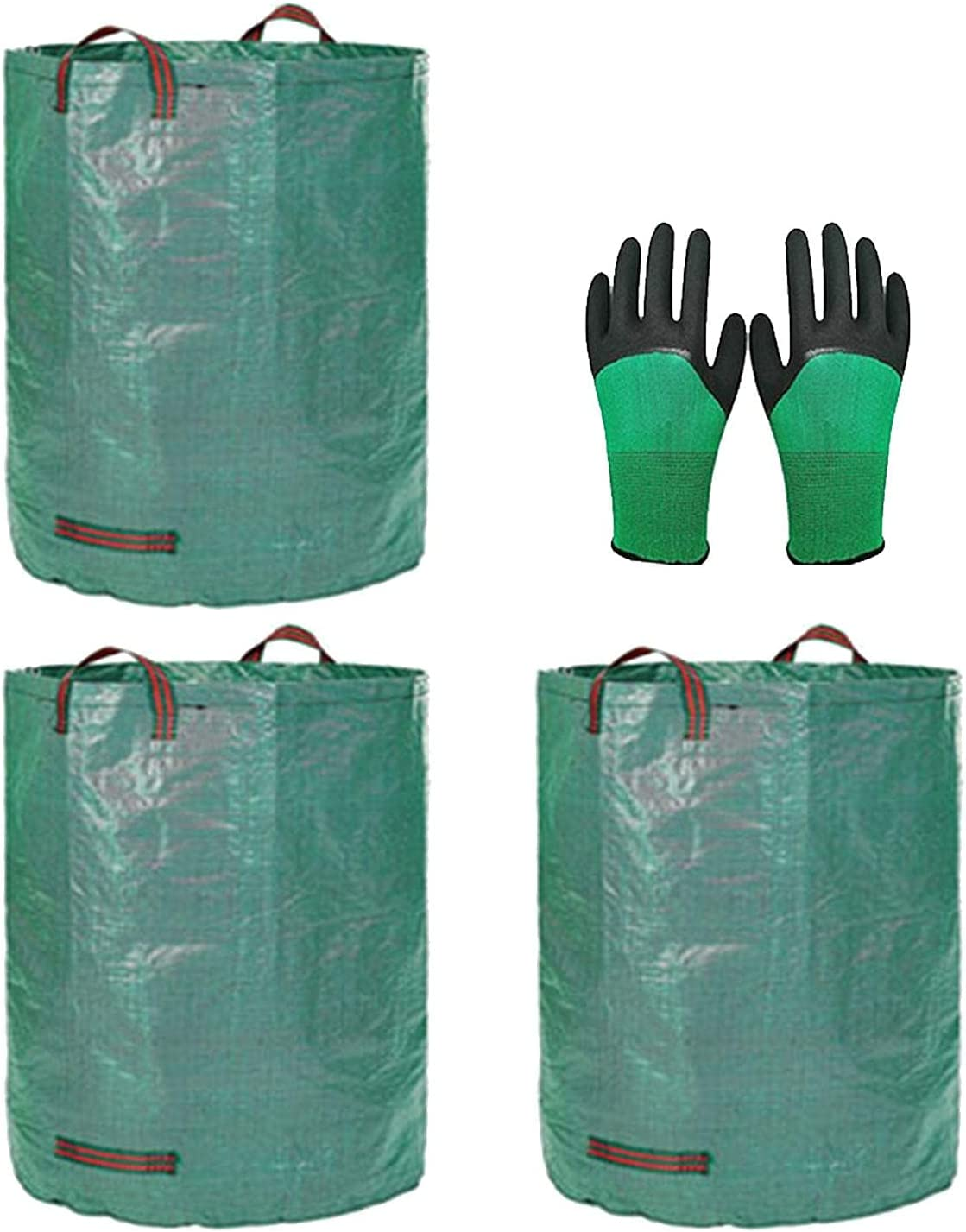 HONUTIGE 3PCS Our shop OFFers the best service Garden overseas Waste Bag Heavy Duty Yard Handle with Bags