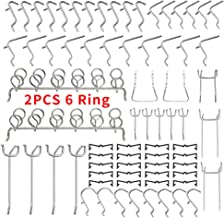 "Pegboard Hooks Set, 72 Pcs Peg Board Organizer Assortment with Two 6 Ring Tool Holder, Including 52 Pcs Pegboard Hanger & 20 Pcs Peg Locks for 1/4"" 1/8"" Pegboard, Perfect for Garage Kitchen Workshop"