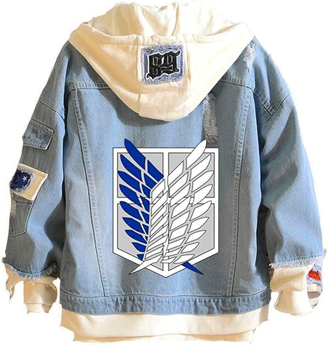 Denim Jacket men and women cowboy Casual Anime Casual survey corps scout regiment cosplay coat