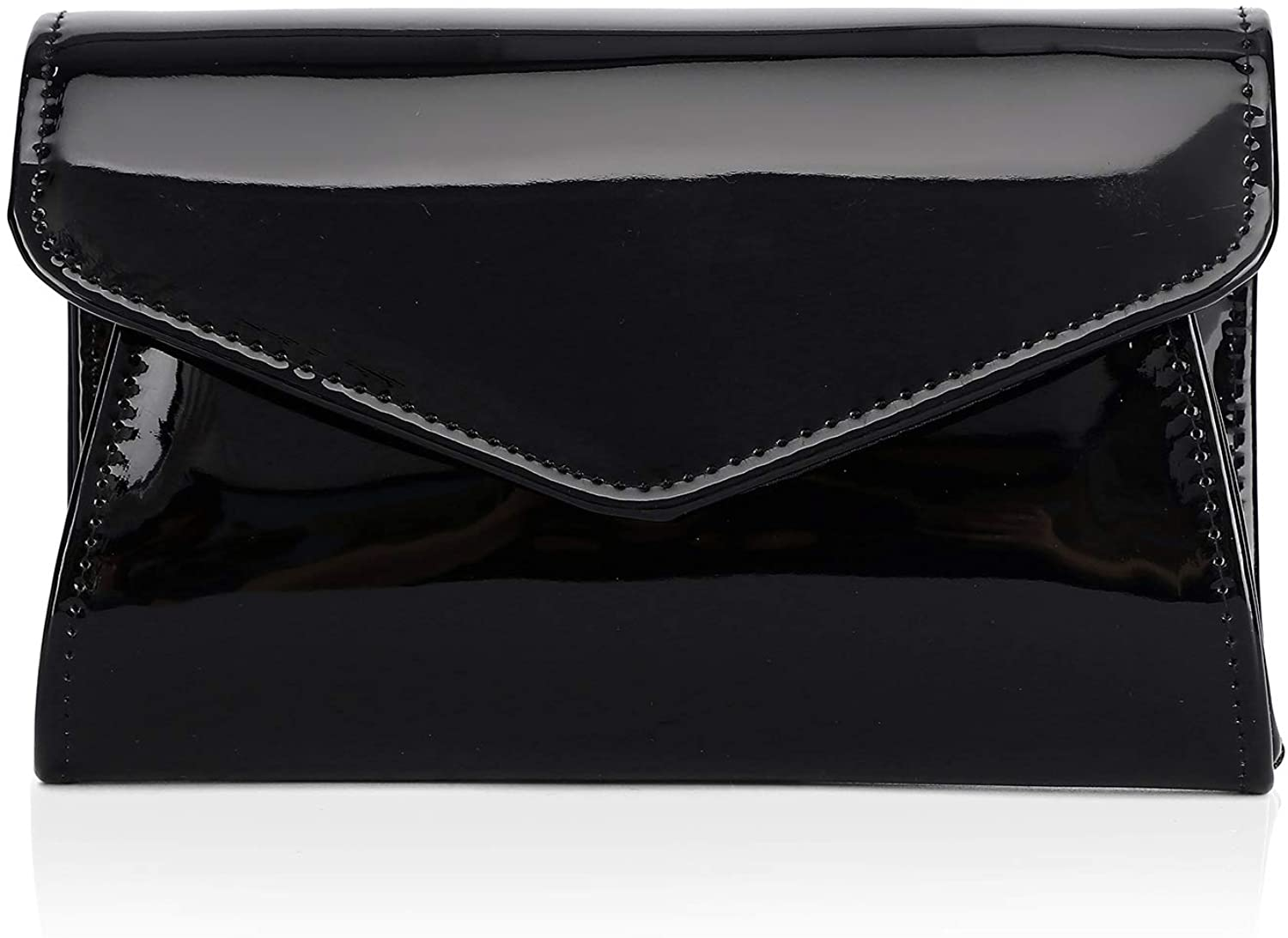 Labair Patent Leather Clutch Bag Glossy Candy Evening Bag Classic Shiny Purses for Women Solid Color,Small.