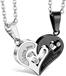 Stainless Steel Mens Womens Pendant Necklace