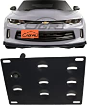JGR Racing Car No Drill Tow Eye Front Bumper Tow Hole Hook License Plate Mount Bracket Holder Adapter Relocation Kit for 2016-up 6th Gen Chevrolet Camaro