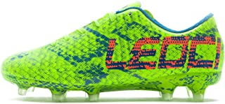 LEOCI Performance Soccer Shoes - Men and Boy Soccer Shoes Outdoor Soccer Cleat Green Size: 3