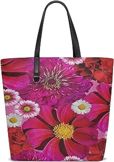 Women Flowers Flower Red Nature Plant Small Flowers Handle Satchel Handbags Shoulder Bag Tote Purse Messenger Bags