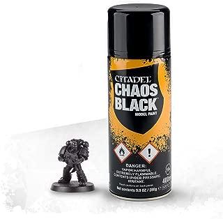 Games Workshop Citadel Spray Paint Chaos Black 9.9 Oz