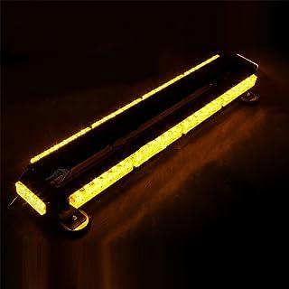 BININBOX Auto Lange Blitzleuchte 54LED Zweireihige Deckenleuchte 54W Baufahrzeug Lichter, langes Licht, super hell, stark magnetisch