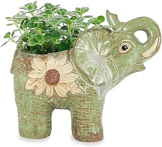 Dahlia Daisy Elephant Handmade Ceramic Succulent Planter/Plant Pot/Flower Pot, Daughter