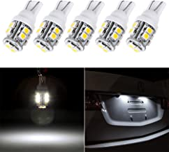 cciyu 194 Extremely Bright LED Bulbs T10-10-3528-SMD Light Lamp License Plate Light Lamp Wedge T10 168 2825 W5W White Pack of 5