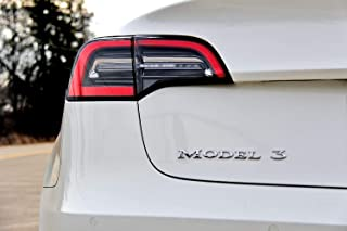 TeslaShop 'Model 3' Emblem Badge - 3D OEM Quality - for Tesla Model 3 (Chrome)