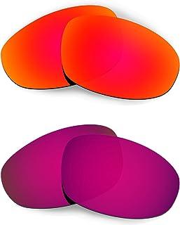 HKUCO Plus Mens Replacement Lenses For Oakley Juliet - 2 Pair
