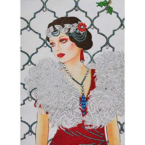 HuangjinyeTY Noble Woman Full Round Drill Diamond Painting 5D DIY Mosaic Kits Rhinestone Picture Wall Art Handmade Craft Gift Home Decor