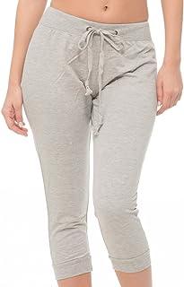 715182e10 Coco-Limon Jogger Pants Women – French Terry Capri Cropped Sweatpant -  Regular & Plus