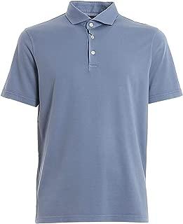FEDELI Luxury Fashion Mens 3UED0110625 Light Blue Polo Shirt | Spring Summer 20