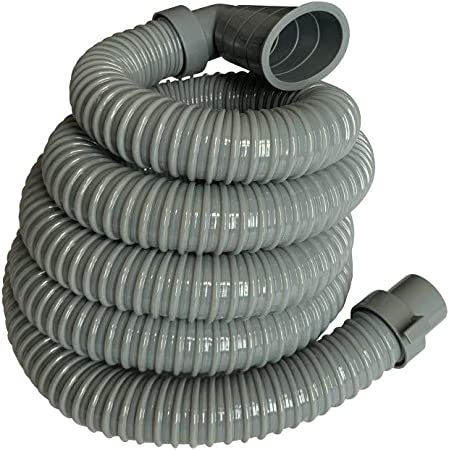 8Ft - Universal Washing Machine Drain Discharge Hose, Zulu Supply, Heavy Duty, Fits Most Washer Drain Outlets, Large, XL, Extra Long, Extension (8)