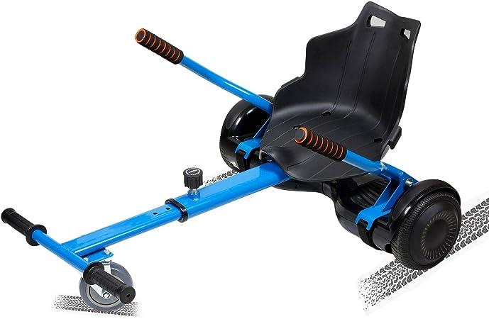 SISGAD Hoverkart Go Kart Hoverkart para Patinete Eléctrico Universal Fijación Ajustable Hoverboard Kart con Asiento Compatible con Balance Board de ...
