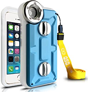 Iphone 5 5s 5c Case,genuine Professional Diving Case,waterproof/shockproof/dustproof Super Case W/straps for Iphone 5 5c 5s in Ocean /Ford /Sea /Pool Shooting- (Blue)