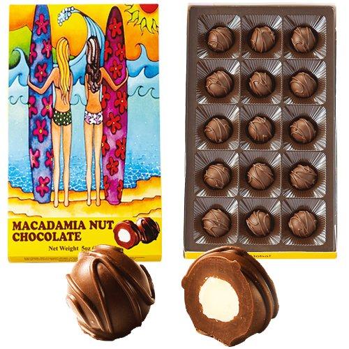 アロハギャラリー マカダミアナッツチョコ サーフガールズ 15粒 1箱