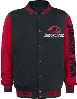 Jurassic Park Logo Classique Homme Veste Varsity noir/rouge, ,
