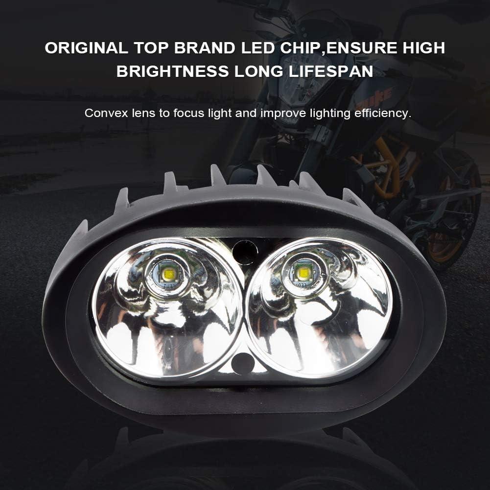 BeiLan 2Pcs Zusatzscheinwerfer Motorrad LED,Scheinwerfer Motorrad,Nebelscheinwerfer Motorrad Schwarz,LED Arbeitsscheinwerfer,Spotlicht Lampe 12V 24V 20W 1800LM Cree 6500K