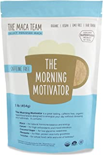 The Maca Team The Morning Motivator Maca Coffee, Caffeine-Free Coffee, GMO-Free, Vegan and Fair Trade Coffee, 1 Pound, 50 ...