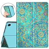 Fintie Case for All-New Amazon Fire HD 8 and Fire HD 8 Plus Tablet (10th Generation, 2020 Release) - [Flex Stand] Premium Vegan Leather Multi-Angle Folio Cover with Auto Sleep Wake, Shades of Blue
