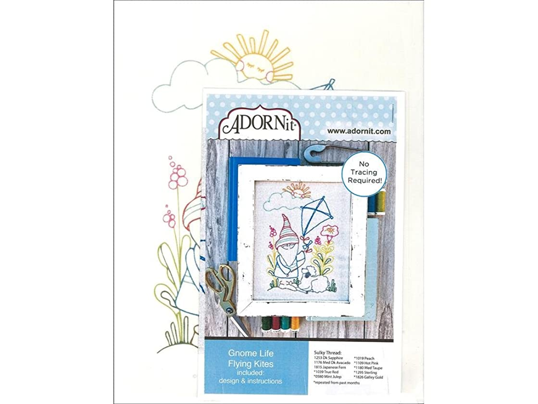 ADORNit Artplay Fabric Monthly Stitchery Gnome Life Feb