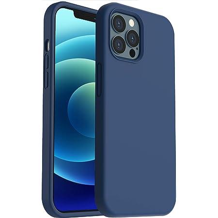 """ORNARTO Funda para iPhone 12/Pro 6,1"""" de Silicona Líquida Reforzada, Protección de Cuerpo Completo de Goma Antichoque Bumper de Protección Case para iPhone 12 Pro/ 12(2020) 6,1 Azul Marino"""