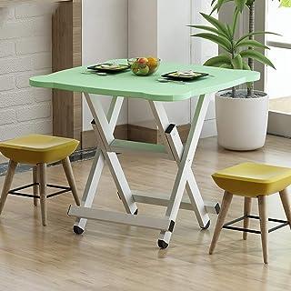 WEHOLY Table Pliante Maison Table de Salle à Manger Simple Table de Salle à Manger extérieure Pliante Carré Simple 4 Perso...