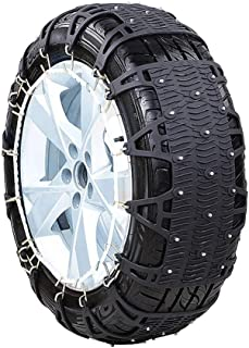 Fting Universal Snow Chains - Anti-Skid Snow Chains Portable Easy to Mount Emergency Traction Car Snow Tyre Chains Universal Generic Car Winter Snow Chains (Color : Black, Size : 1655R16)
