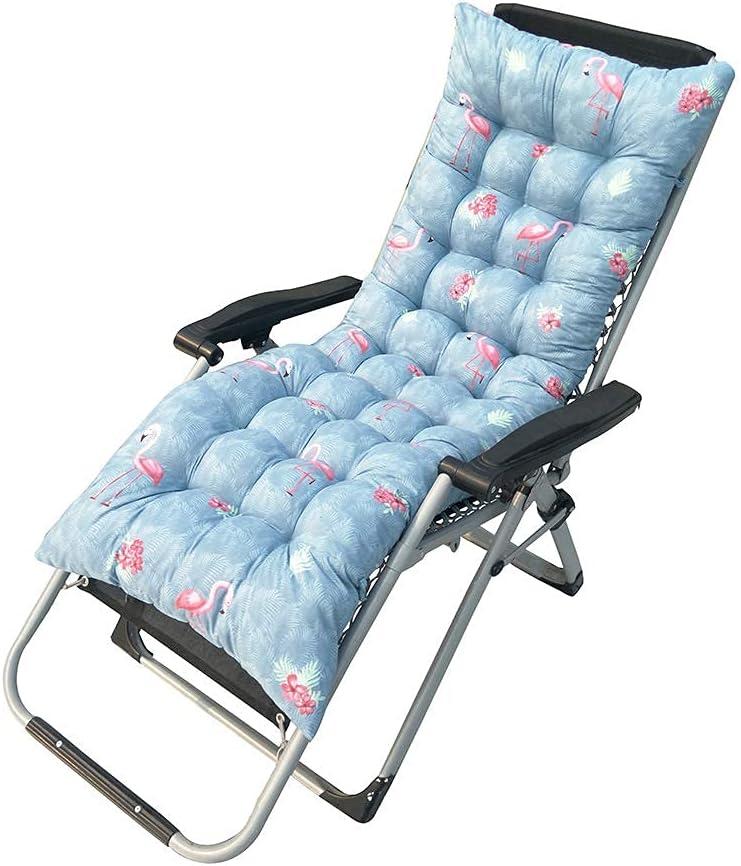 erddcbb Cojines para Muebles de jardín Cojines para tumbonas Cojines para la Playa Colchón para Patio con Bandas Almohadilla Relajante para Silla reclinable portátil de Repuesto (Flamingo)