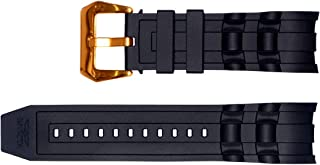 Vicdason for Invicta Pro Diver Watch Bands Replacement Strap with Bukcle - Black Rubber Silicone Invicta Watch Strap
