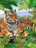 ZHLMMZD Rompecabezas clásico 3000 Piezas Rompecabezas para Adultos Rompecabezas de Madera 3D Rompecabezas Animal Tigre decoración del hogar Juguete Educativo Regalo