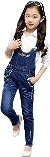 [FERE8890] ガールズ サロペット シャツ ズボンつり オーバーオール サロペットパンツ サスペンダーズボン スキニ―パンツ オールインワン セット