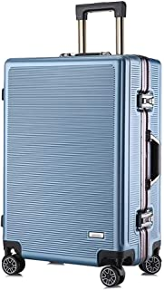 SMLCTY Trolley Case,carryon Luggage With Spinner Wheels,carry On Luggage With Spinner Wheels,Practical And Beautiful PC Stripe Universal Wheel, Multi-function Suitcase,travel Bag,20 Inches, 24 Inches