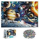 1000 Piezas Puzzle del Universo Espacio,Rompecabezas Planetas y Sistema Solar, Rompecabezas de astronautas espaciales, Rompecabezas para Adultos para niños 42.5 * 30CM