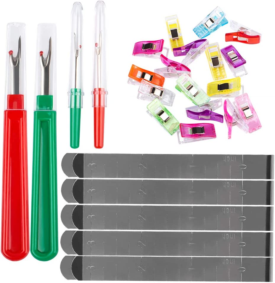 59 Pcs Sewing Tool Set,DanziX Sewing Quilting Fabric Clips Stain
