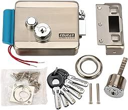 [Upgrade Version] AMOCAM Electric Electronic Door Lock 6pcs Computerized Doted Keys DC 12V Stainless Steel E-lock Support Wooden Glass Metal Door for Video Door Phone Doorbell Intercom Access Control