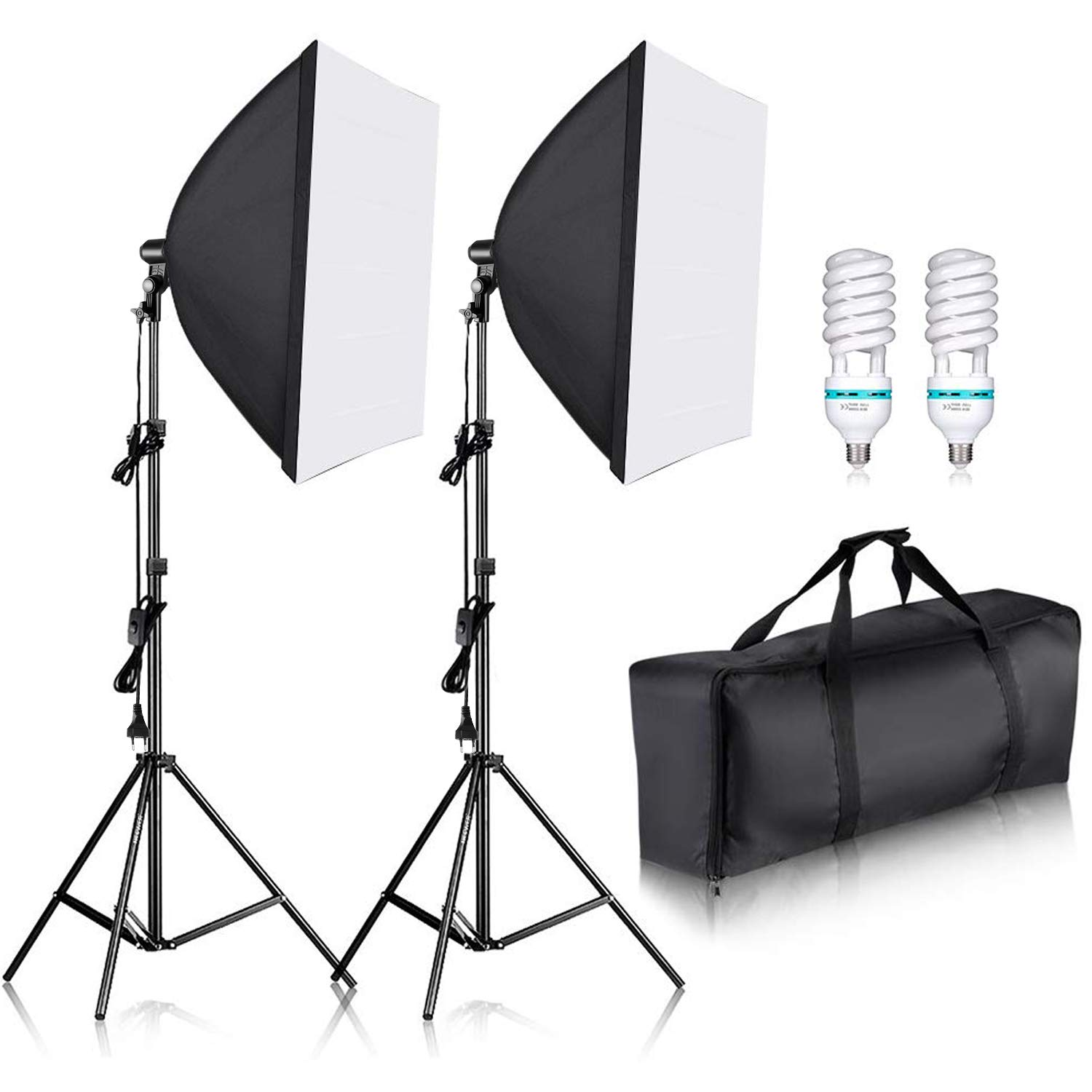 Neewer 700W Pro Fotografía Kit de Iluminación de Luz Softbox – 2 Packs 60×60 centímetros Softbox con Zócalo E27 para Retratos de Estudio Fotográfico, Fotos de Productos y Videos: Amazon.es: Electrónica
